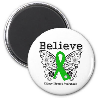Believe Kidney Disease Awareness 6 Cm Round Magnet