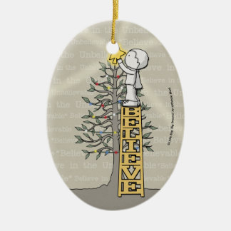 Believe Ladder -Christmas Tree Christmas Ornament