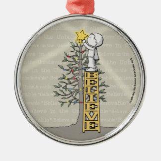 Believe Ladder -Christmas Tree Christmas Ornament