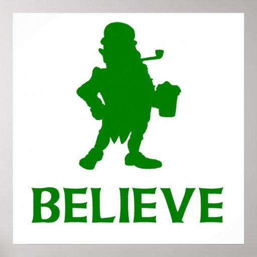 Believe Leprechaun Poster