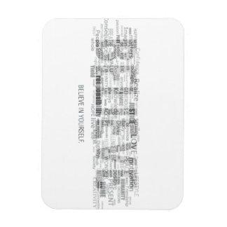 Believe (light) vinyl magnet