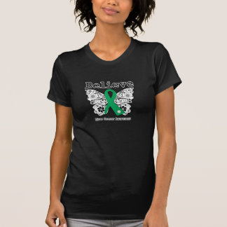 Believe - Liver Cancer Butterfly T-Shirt