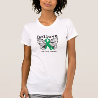 Believe - Liver Cancer Butterfly Shirt