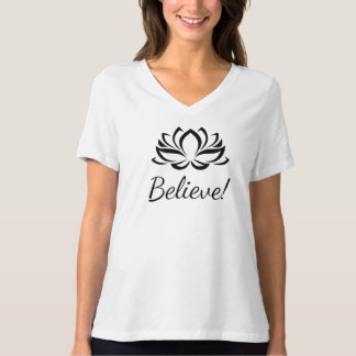 Believe Lotus T-shirt with a loving rem