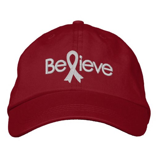 Believe - Lung Cancer Awareness Embroidered Hat