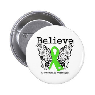 Believe Lyme Disease Awareness 6 Cm Round Badge
