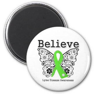 Believe Lyme Disease Awareness 6 Cm Round Magnet