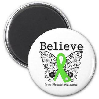 Believe Lyme Disease Awareness 6 Cm Round Magnet