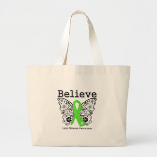 Believe Lyme Disease Awareness Jumbo Tote Bag