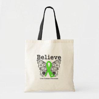Believe Lyme Disease Awareness Tote Bags