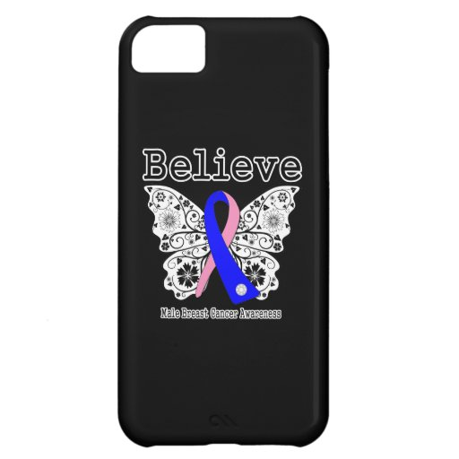 Believe - Male Breast Cancer Butterfly iPhone 5C Case