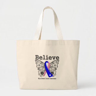 Believe - Male Breast Cancer Butterfly Bags