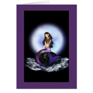 Believe Mermaid Cards Purple
