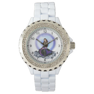 Believe Mermaid Rhinestone Watch
