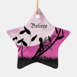 Believe Moonlight Fairy Ornament