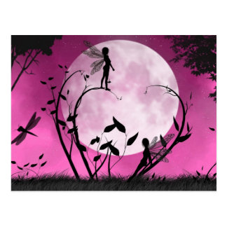 Believe moonlight fairy Postcard