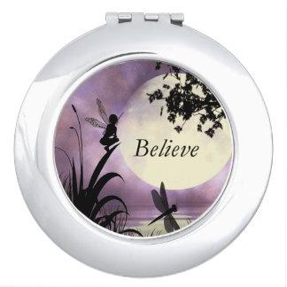 Believe moonlight pond fairy mirror vanity mirrors