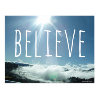 Believe Motivational Saying Postcard