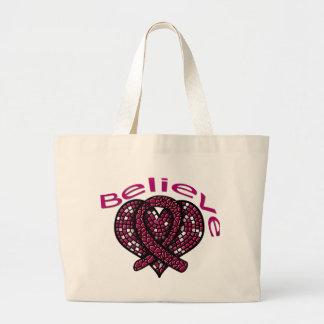 Believe Multiple Myeloma Jumbo Tote Bag
