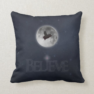 Believe-Nocturnal Flying Pig Cushion