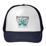Believe - Ovarian Cancer Butterfly Trucker Hat