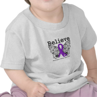 Believe - Pancreatic Cancer Butterfly Tshirt