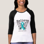 Believe - Peritoneal Cancer Butterfly T-shirts