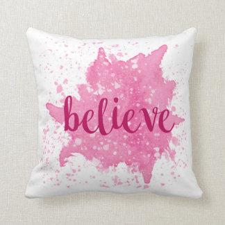 Believe Pink Pillow