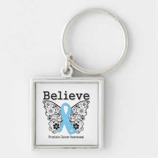 Believe - Prostate Cancer Butterfly Key Chain