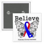 Believe Pulmonary Fibrosis Awareness Pin