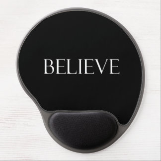 Believe Quotes Inspirational Faith Quote Gel Mouse Mat