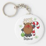 Believe Reindeer Keychains