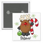 Believe Reindeer Pins