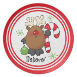 Believe Reindeer Plate