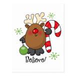 Believe Reindeer Postcard