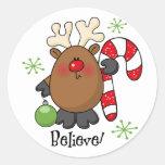 Believe Reindeer Sticker