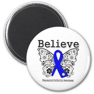 Believe Rheumatoid Arthritis 6 Cm Round Magnet
