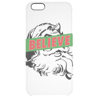 Believe Santa Claus Clear iPhone 6 Plus Case