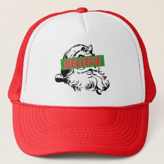 Believe Santa Claus Trucker Hat