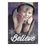 BELIEVE SNOWFLAKES | HOLIDAY PHOTO CARD