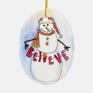 Believe! Snowman Ornament