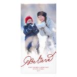 Believe Star Christmas Photo Holiday Greetings