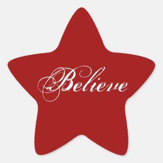 Believe Star Sticker