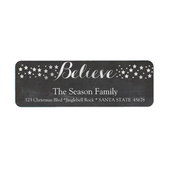 Believe stars holiday label
