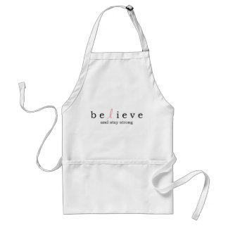 Believe Stay Strong Breast Cancer apron