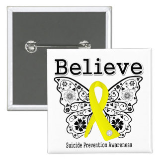 Believe Suicide Prevention Awareness 15 Cm Square Badge