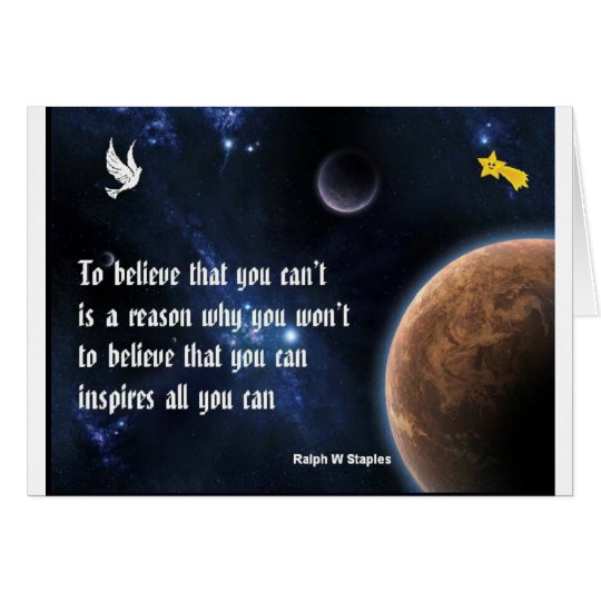 Believe that you can card
