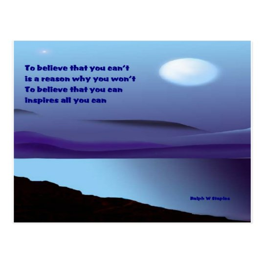 Believe that you can postcard