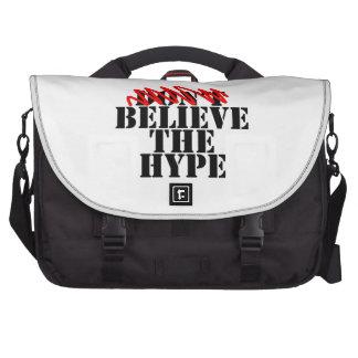 Believe the hype. laptop shoulder bag