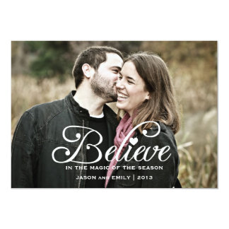 BELIEVE | The Magic of Christma Holiday Photo Card 13 Cm X 18 Cm Invitation Card